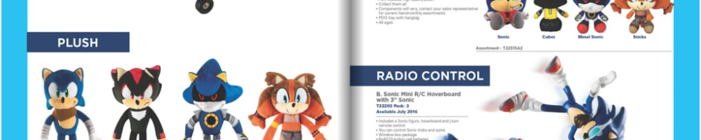 Tomy Reveals New 2016 Sonic Boom Toys