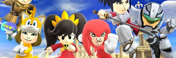 Tails and Knuckles Mii costumes for Smash Bros releases on Feb 3rd/4th