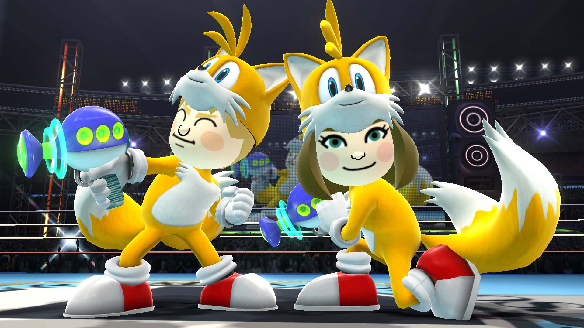 Tons of Tails & Knuckles Mii Fighter Screenshots for Smash Bros Wii U/3DS