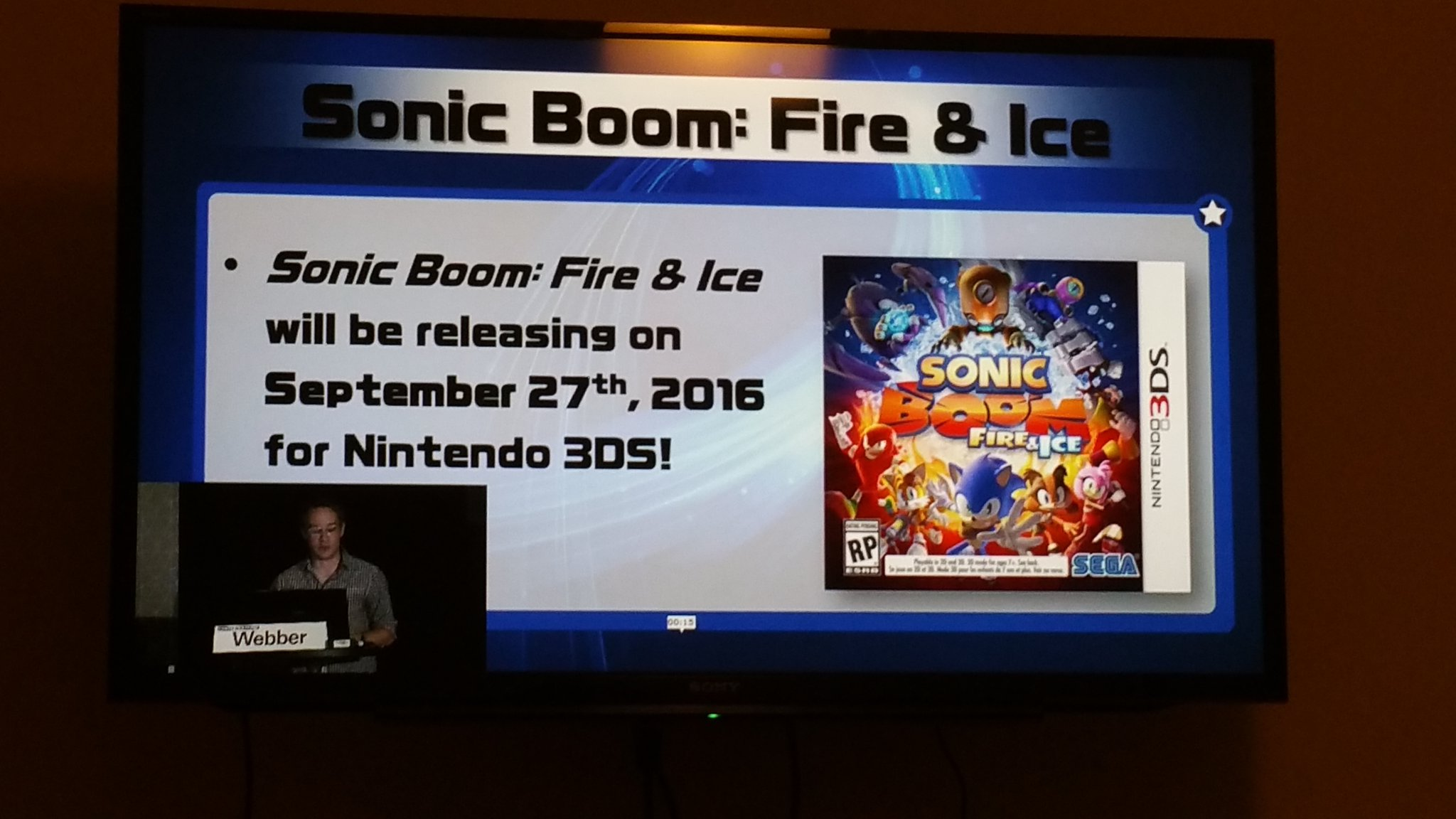 Sonic Boom Fire & Ice dated for Sept 27th