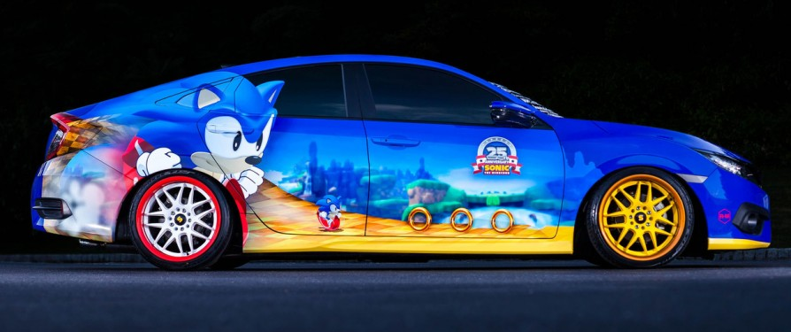 Sonic Themed Honda Civic To Debut at Comic Con