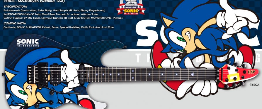 ESP×SONIC SONIC THE HEDGEHOG 25th Anniversary & SHADOW THE HEDGEHOG 15th Anniversary Guitars Announced