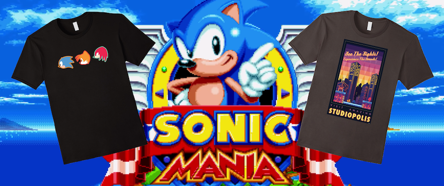 Three Weeks Remain for Limited Edition Sonic Mania T-Shirts on Amazon