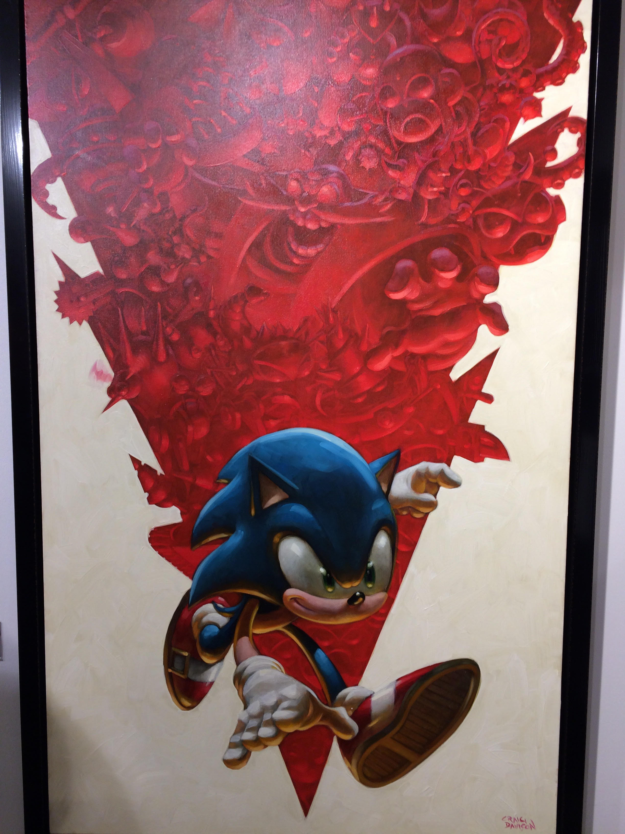 Tss Review Castle Fine Art Sonic The Hedgehog Gallery Opening The Sonic Stadium