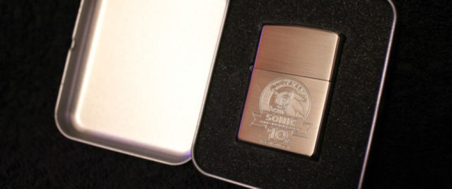 Official Sonic Zippo Will Light Up Blue Blur's 10th Anniversary