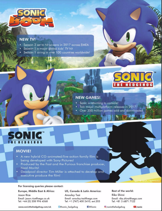 Toyworld Solid Roadmap Of Sonic Games For Next Few Years The Sonic Stadium