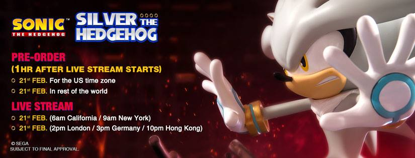Silver The Hedgehog Statue On Sale Next Week
