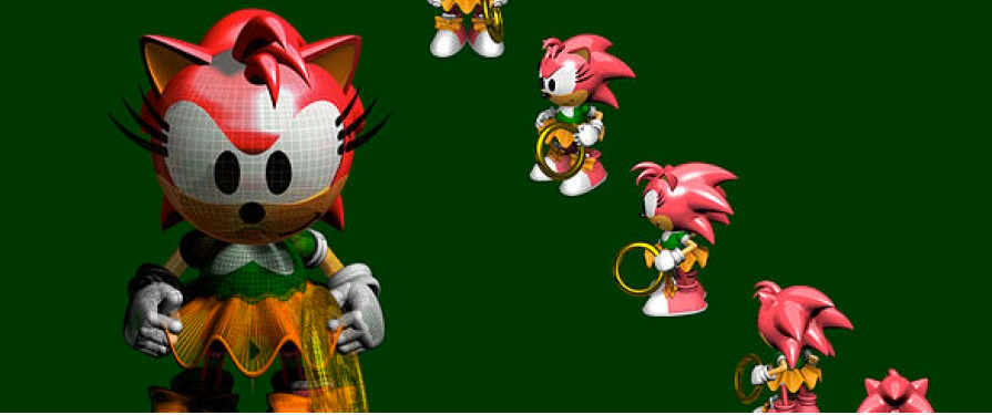 Sonic X-Treme Amy Rose Models Found