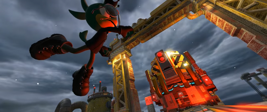 Sonic Forces' Custom Hero Drills through Space Port, shows off rental hero & Infinite boss battle