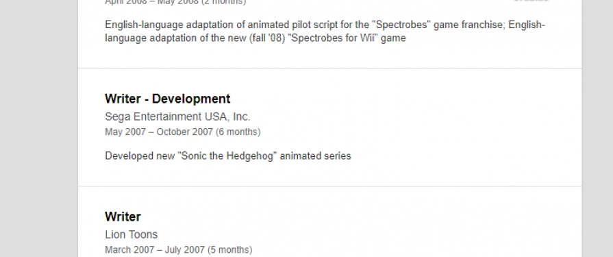 Cancelled 2007 Sonic The Hedgehog Cartoon Details Surface