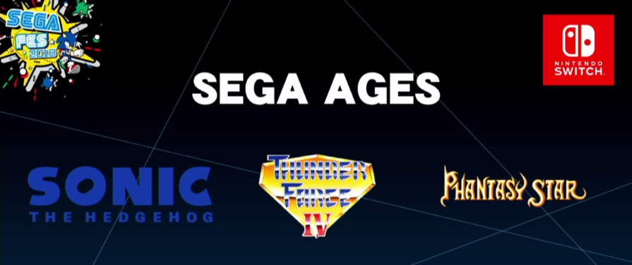 Sega announces Sega Ages line of classic games for Switch eShop