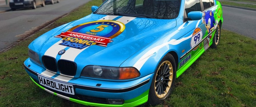 Sega's HARDlight Studio Are Auctioning A Sonic Themed BMW!