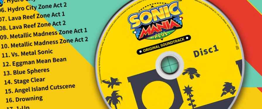 Sonic Mania Plus CD Soundtrack Packaged with Japanese Release