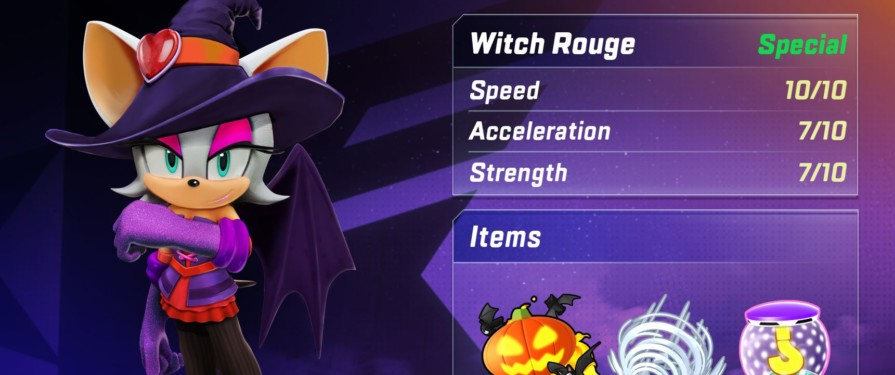 Rouge the Bat Gets A Halloween Makeover in Sonic Forces: Speed Battle