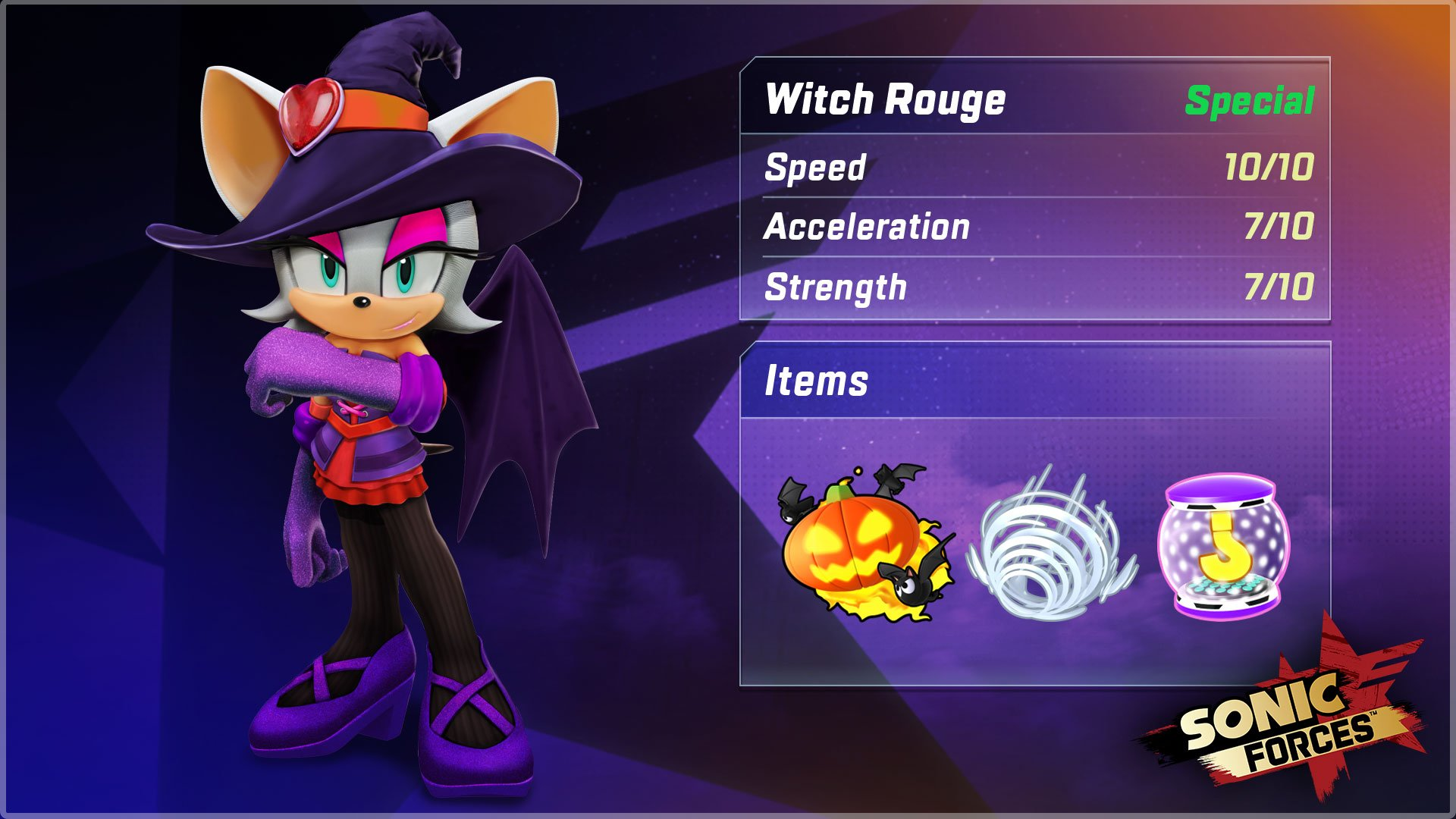 Rouge The Bat Gets A Halloween Makeover In Sonic Forces Speed
