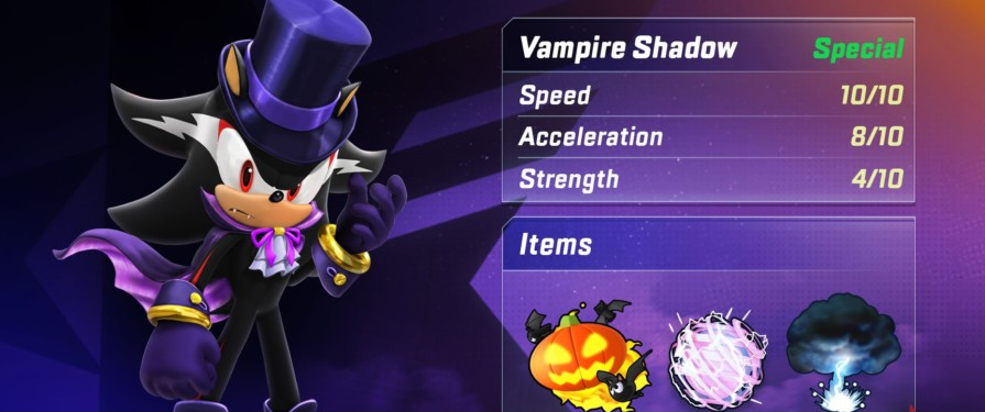 Sonic Forces Speed Battle Launches Season Six With Vampire Shadow