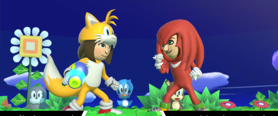 Tails (Gunner) and Knuckles (Brawler) Mii Fighter costumes return in Super Smash Bros. Ultimate