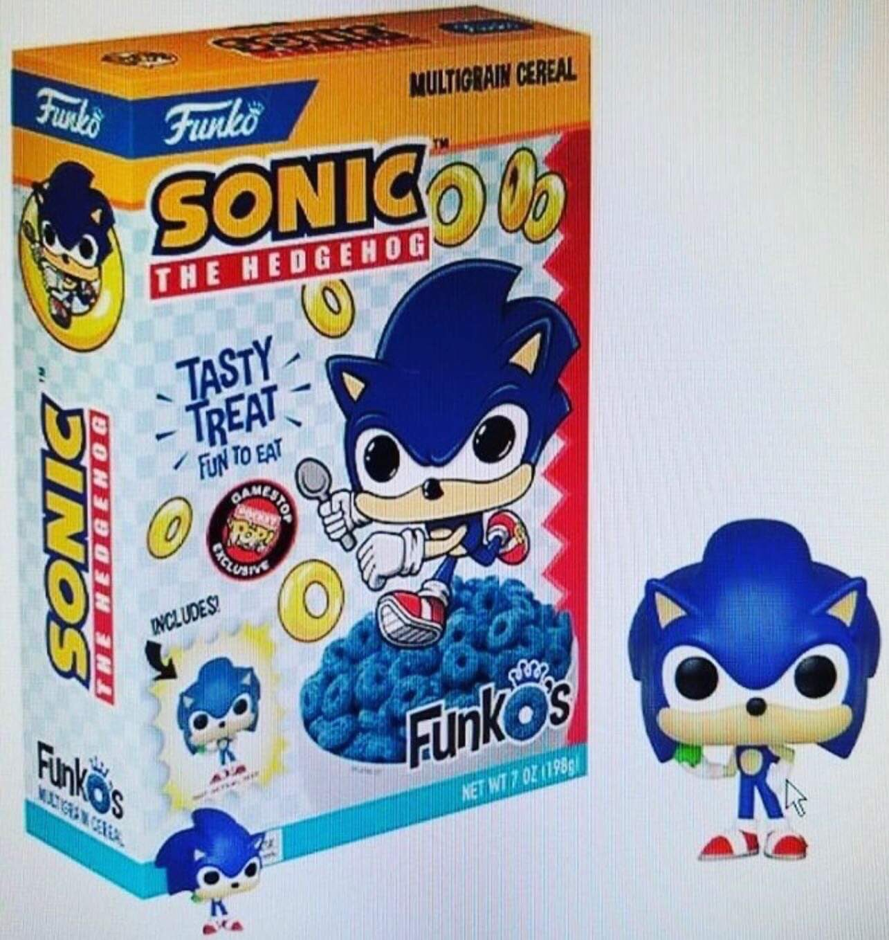 Funko Sonic The Hedgehog Breakfast Cereal Coming To