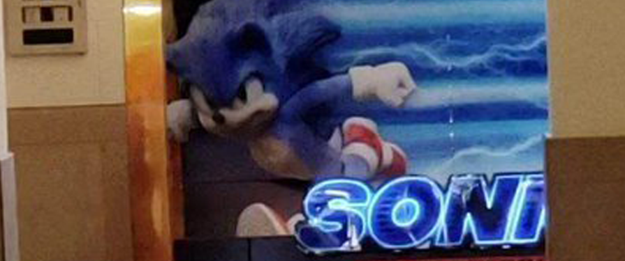 Leak: Sonic Movie Redesign Appears On Movie Billboard