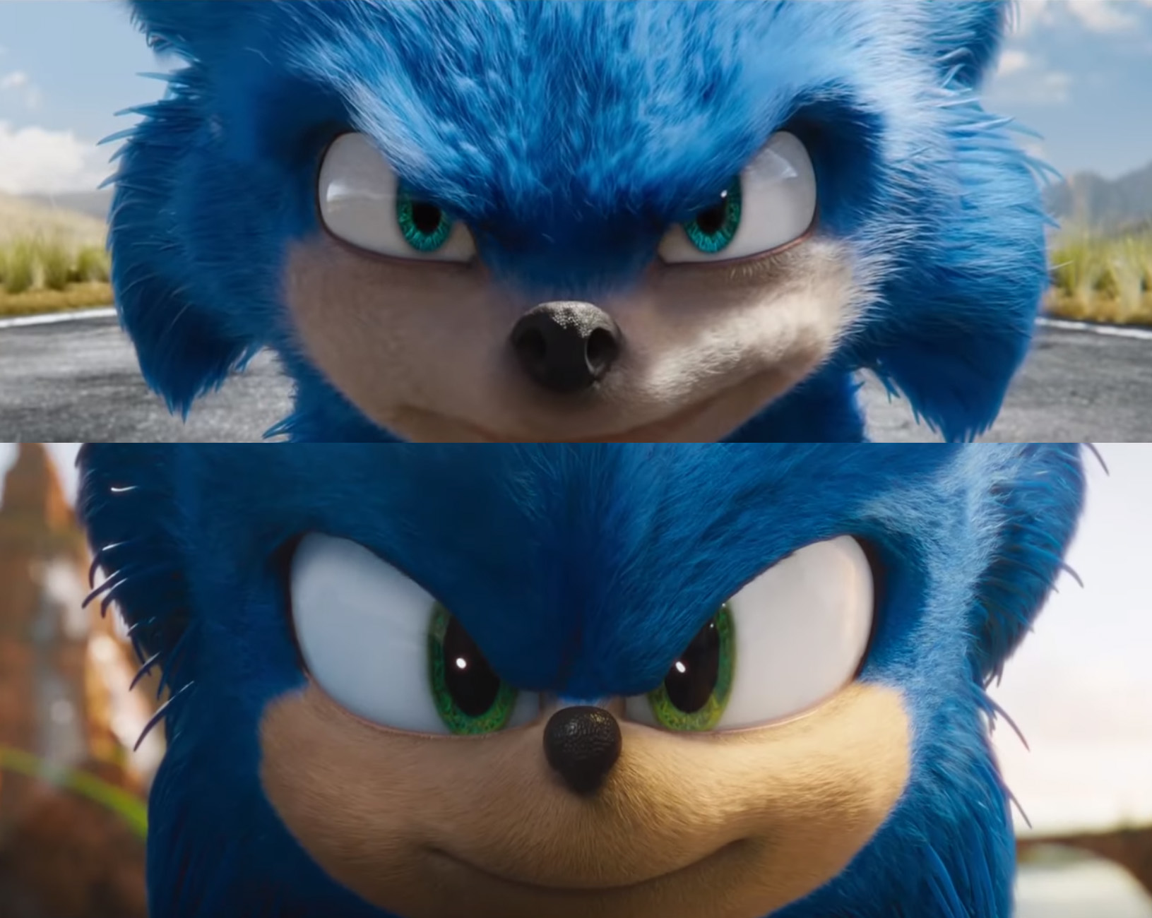 Transformation Tuesday Check Out Some Before And After Shots Of The Sonic Movie The Sonic Stadium