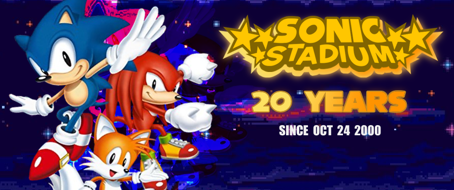 2020 is The Sonic Stadium's 20th Anniversary! A Year of Festivities!