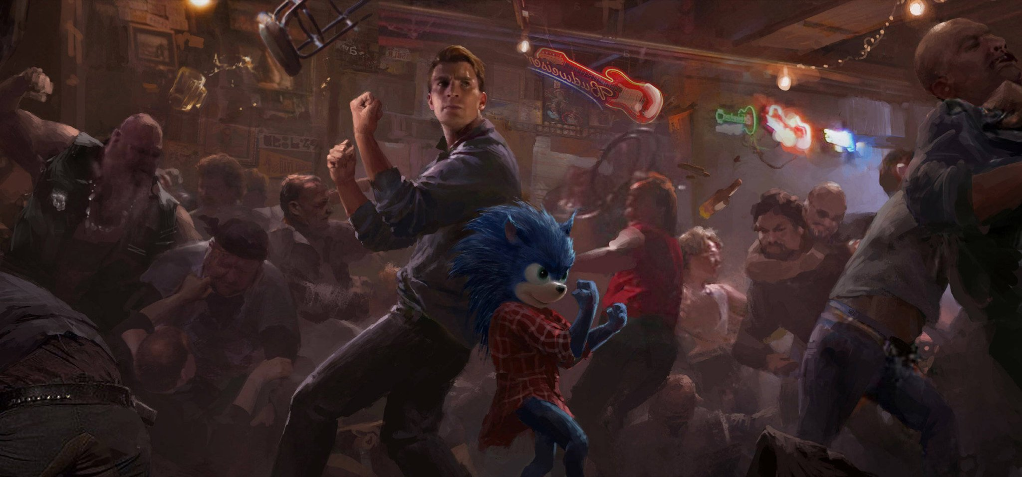 Old Sonic Movie Concept Features Unused Villain Sonic Fighting With Chris Evans The Sonic Stadium