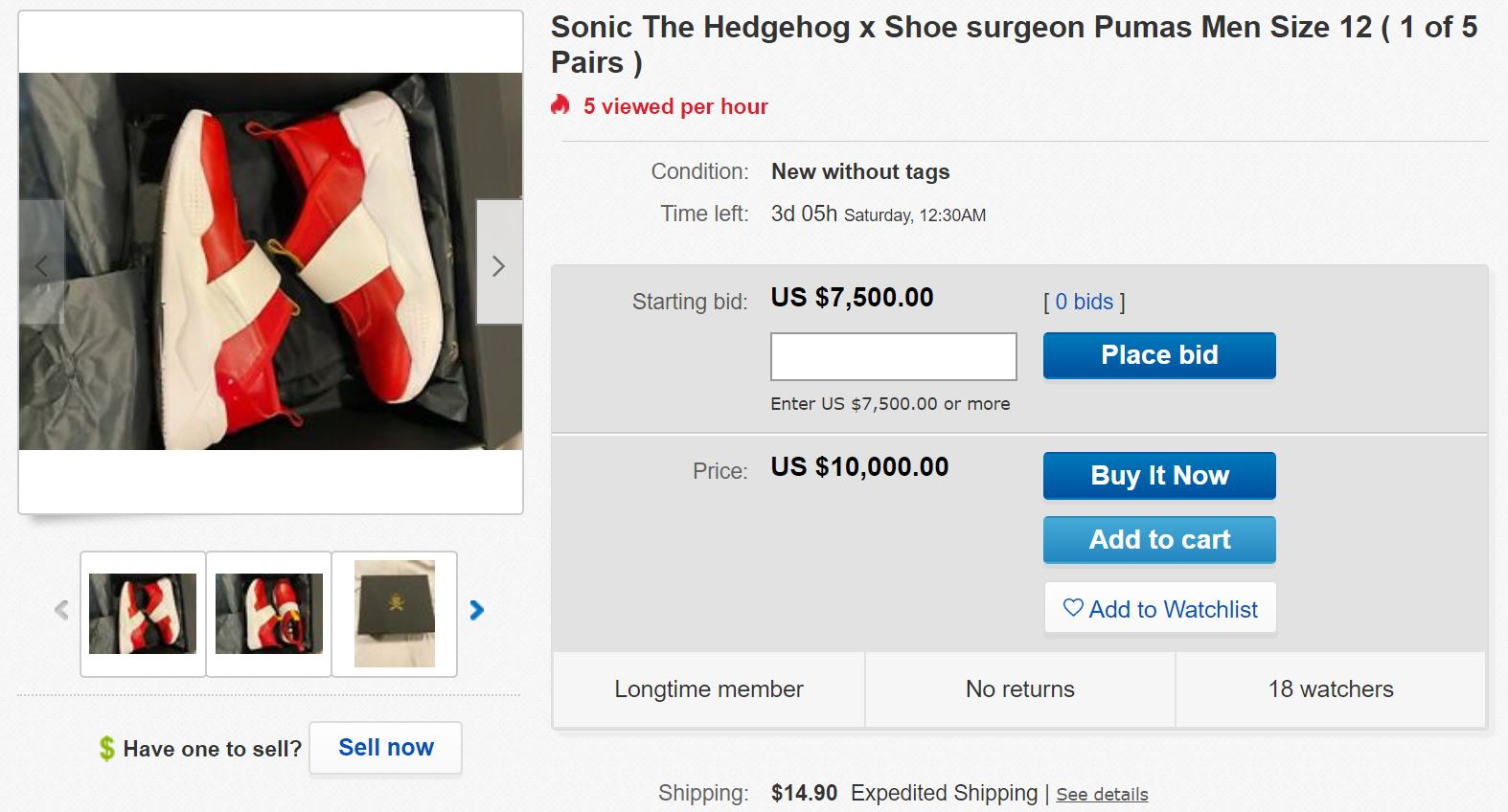 You Can Buy Sonic S Shoes Now But It Ll Cost You Thousands Of Dollars The Sonic Stadium