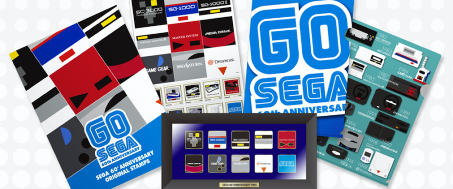 SEGA Releasing Limited Edition 60th Anniversary Stamps and Pin Sets via Japan Post