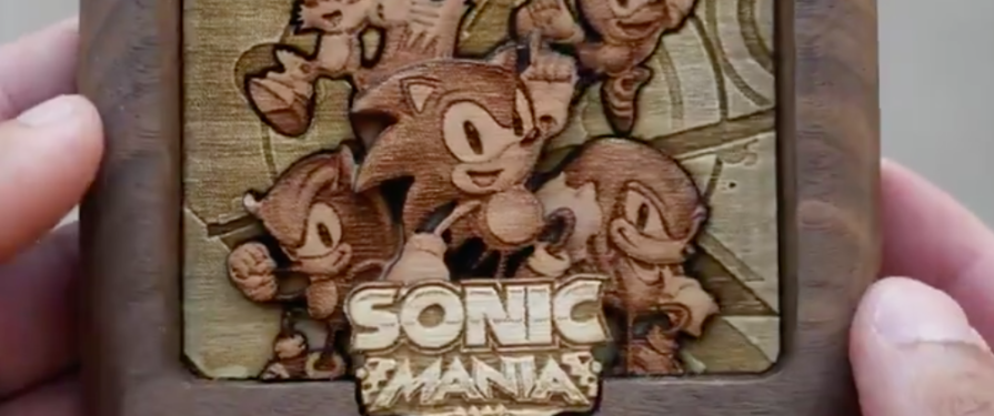 Woodwork Artist Creates a Sonic Mania Mega Drive Cartridge And Now We Really Want One