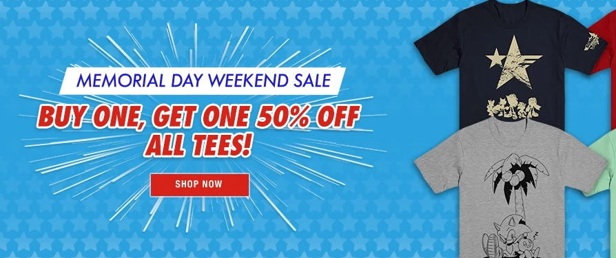 Want Two Shirts? Get a Discount This Weekend at Official Sega U.S. Shop