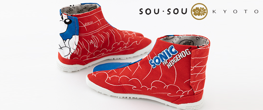 Sonic x SOU SOU Designer Tabi Shoes Available For Purchase in the US