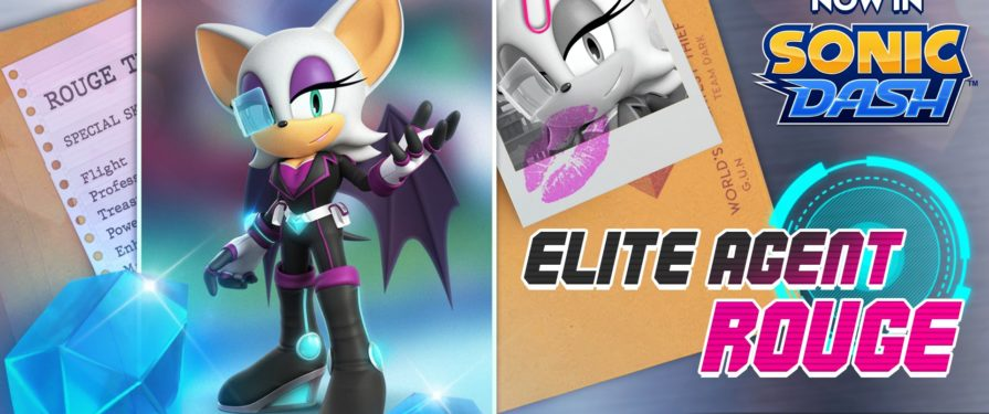 The Next Special Sonic Dash Character is Elite Agent Rouge