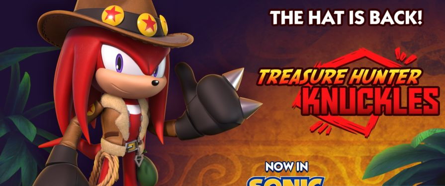 My Hat's On Fire! Treasure Hunter Knuckles Arrives as new Sonic Dash Collectible Character