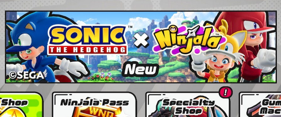 Sonic x Ninjala is Live! Here's What You Can Get and How