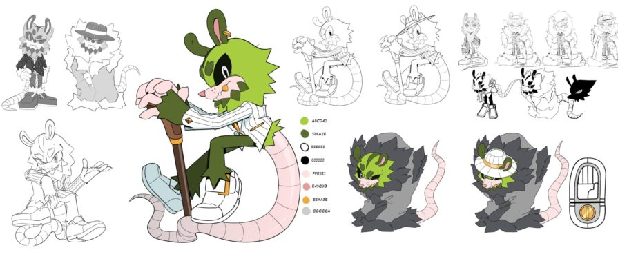 Check Out The Character Sheet of IDW's Chao Kingpin, Clutch the Opossum