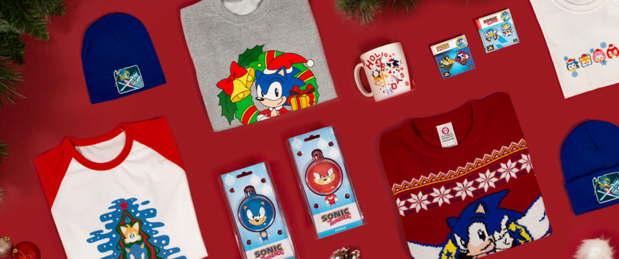 SEGA Shop Brings Holiday Cheer With Festive New Sonic Merch