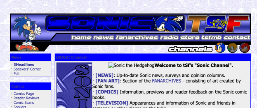 Fan Sites: The Sonic Foundation Returns With A Fresh New Look