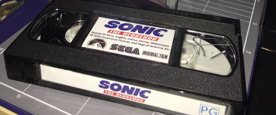 Someone Made a Working VHS Copy of the Sonic Movie and It's Unbelievably Retro