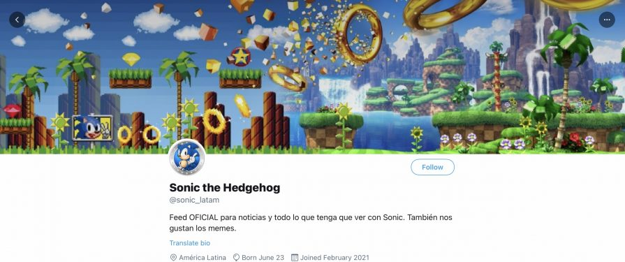 SEGA Opens New Sonic Twitter Accounts for Brazil and Latin America