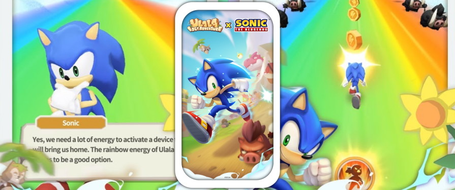Sonic Goes Stone Age in Ulala: Idle Adventure Limited Time Event