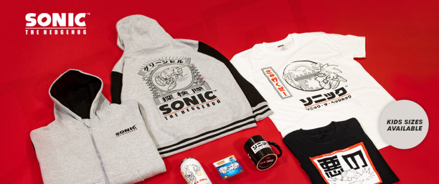 We're In Love With This New 'Japanese Style' Sonic Range – Now Available at SEGA Shop UK
